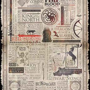 Game Of Thrones Infographic Poster multicolore