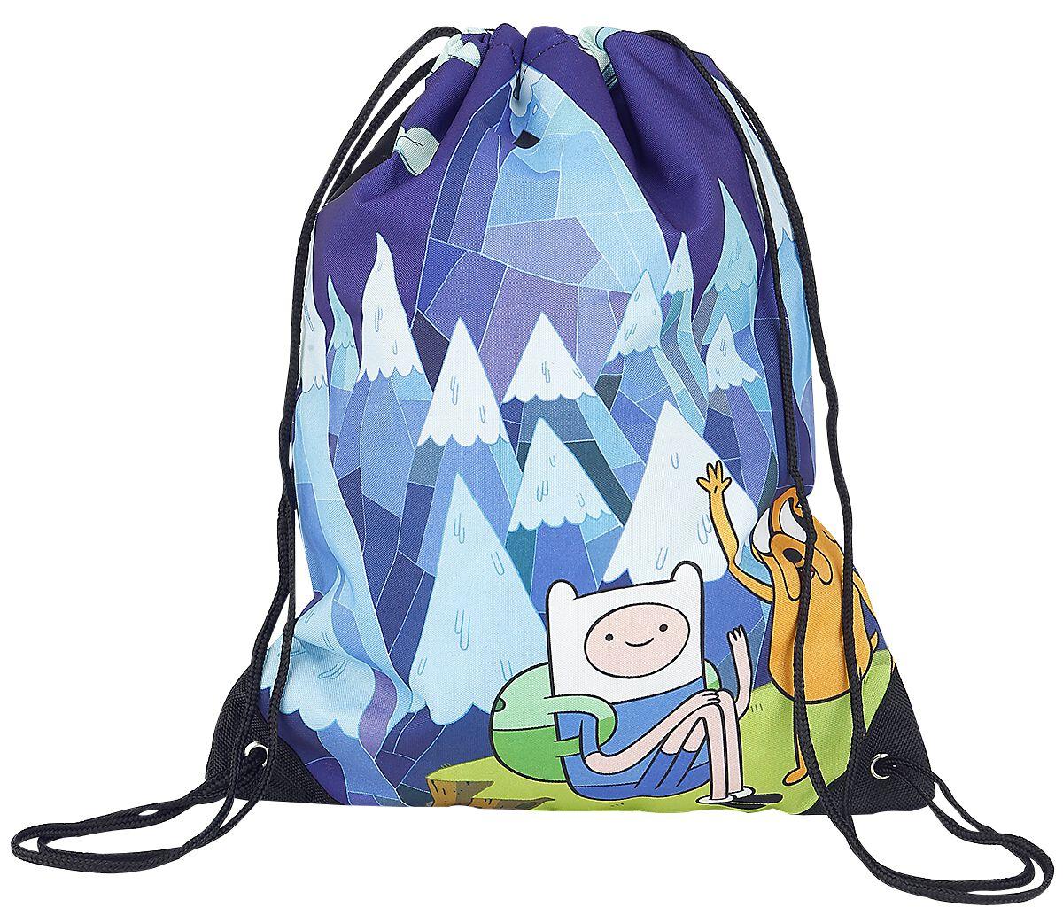 Merch dla Fanów - Torby i Plecaki - Torba treningowa Adventure Time Blue Mountain Jake & Finn Torba treningowa niebieski - 327047