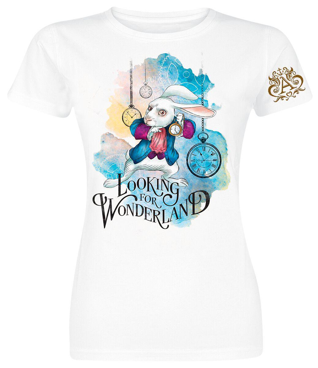 Alicja w Krainie Czarów Looking For Wonderland Koszulka damska biały