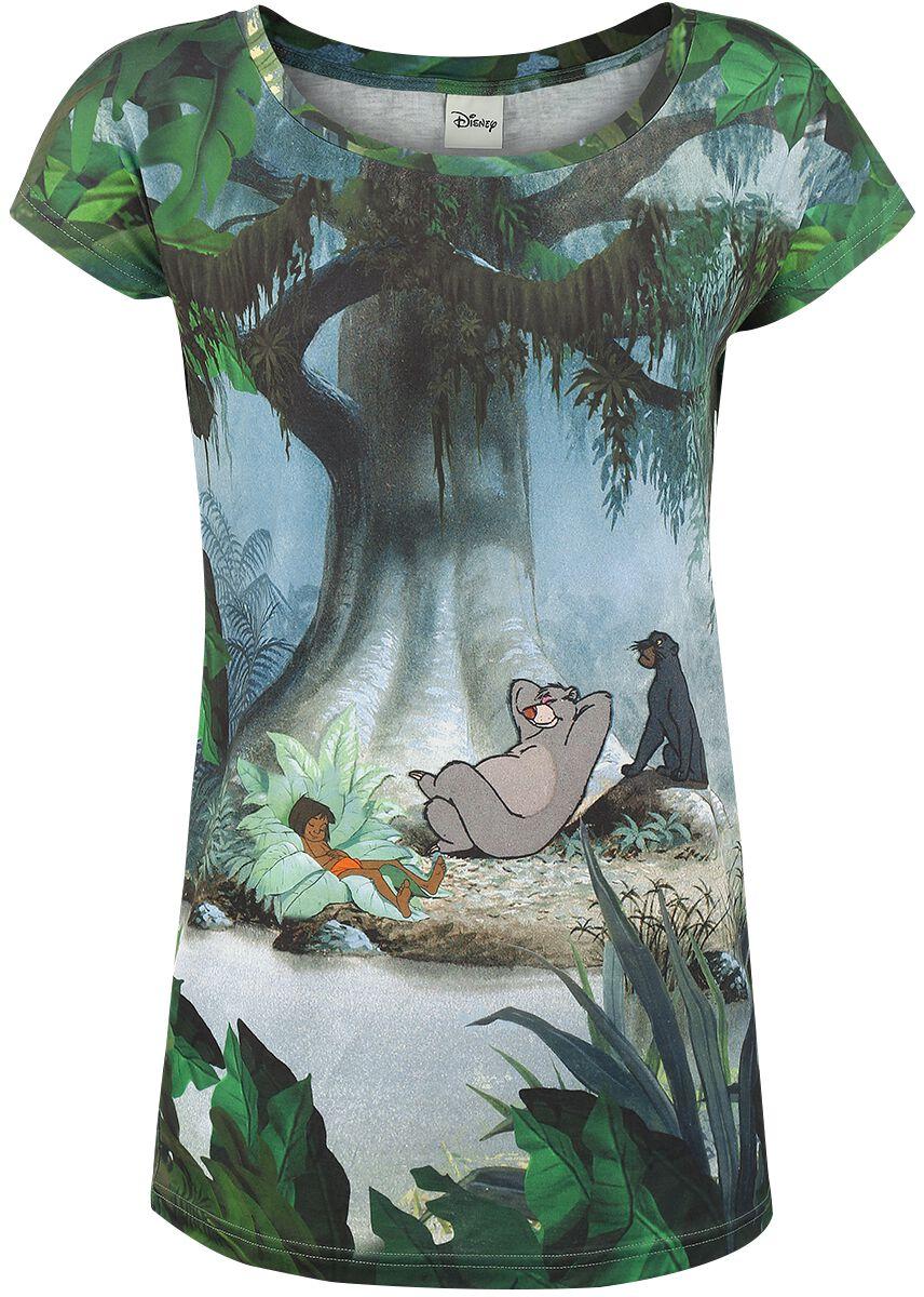 Merch dla Fanów - Koszulki - Koszulka damska The Jungle Book Nap Time Koszulka damska wielokolorowy - 327270