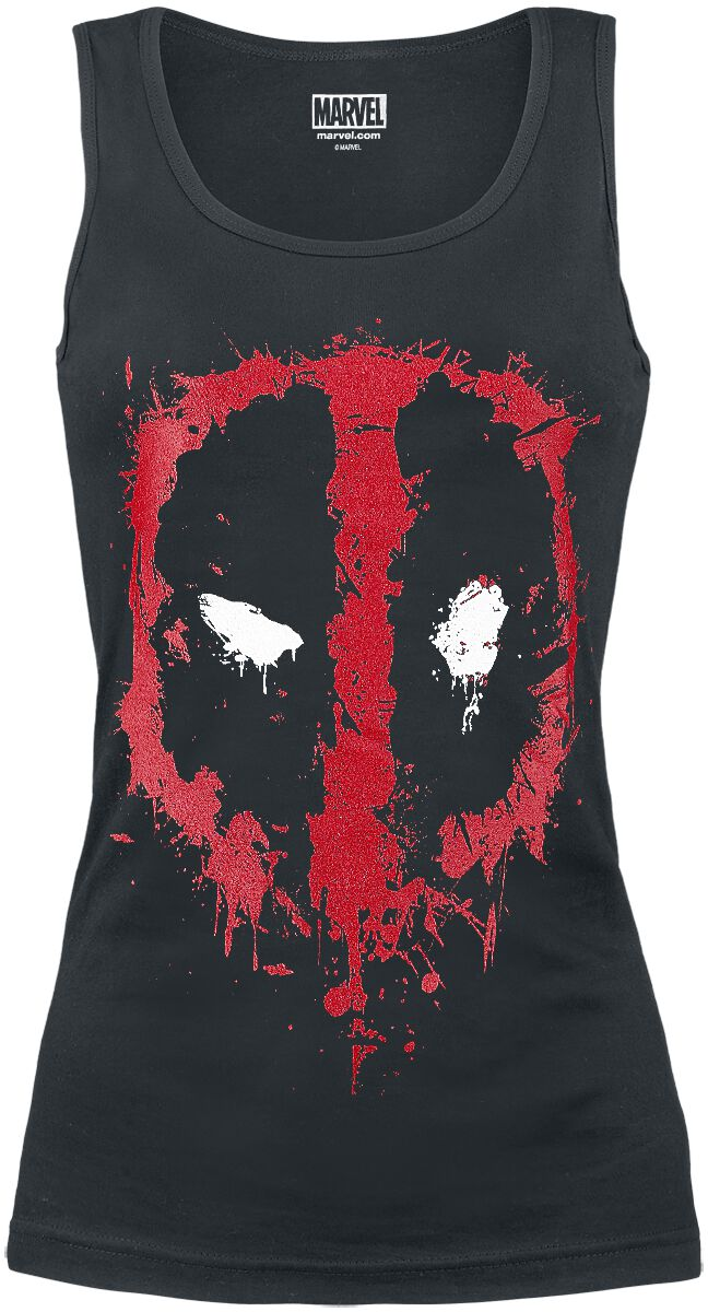 Image of   Deadpool Splatter Logo Girlie top sort