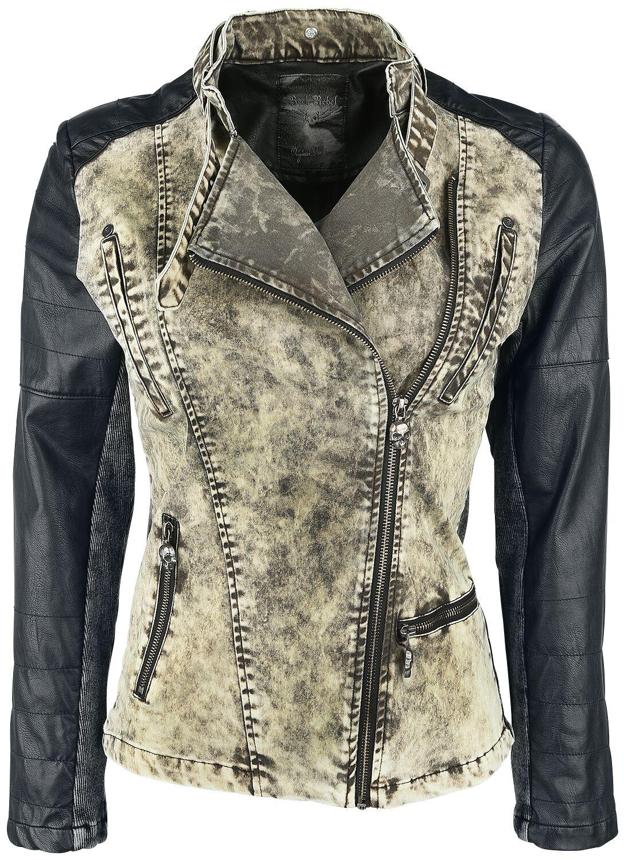 Image of   Rock Rebel by EMP 2in1 Biker Style Girlie jakke sort-olivengrøn