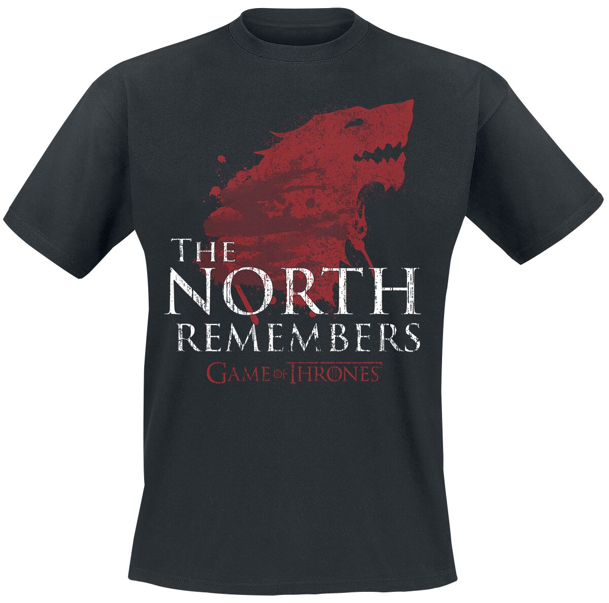 Image of   Game Of Thrones House Stark - The North Remembers T-Shirt sort