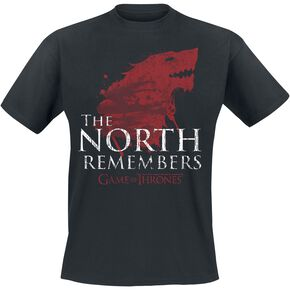 Game Of Thrones Maison Stark - The North Remembers T-shirt noir