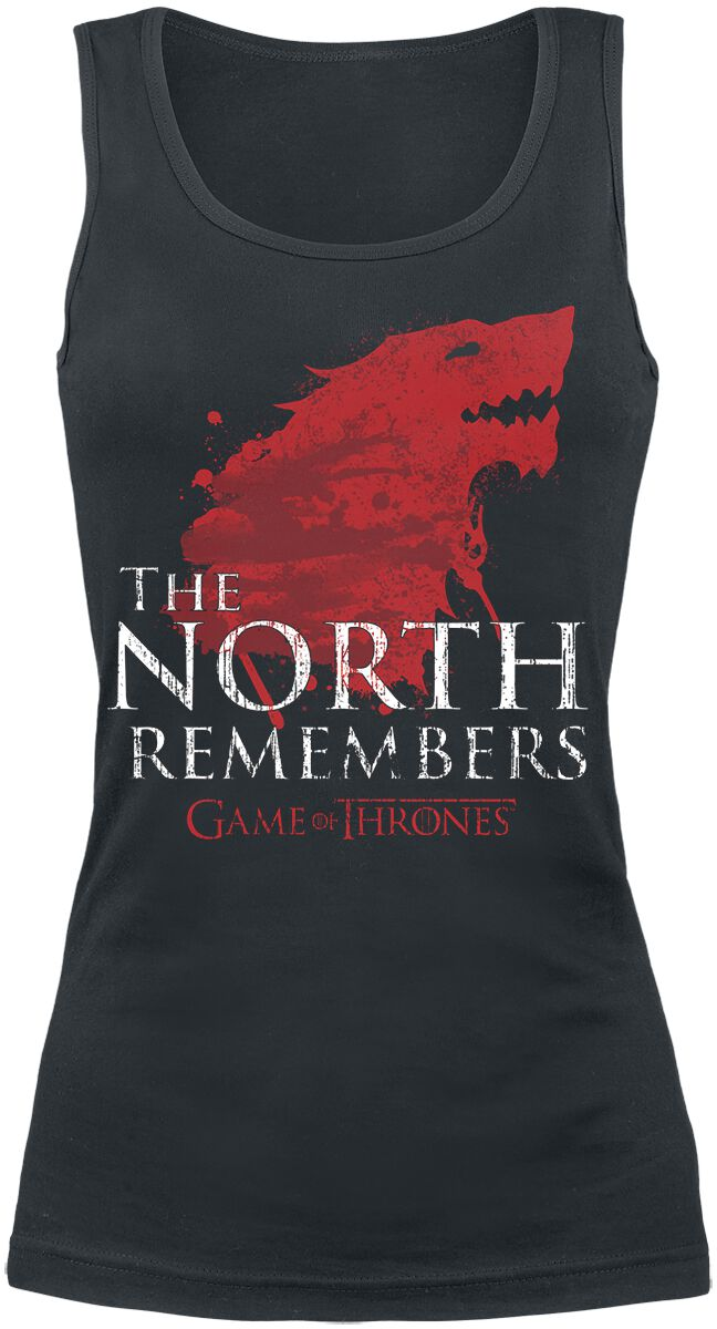 Image of   Game Of Thrones House Stark - The North Remembers Girlie top sort