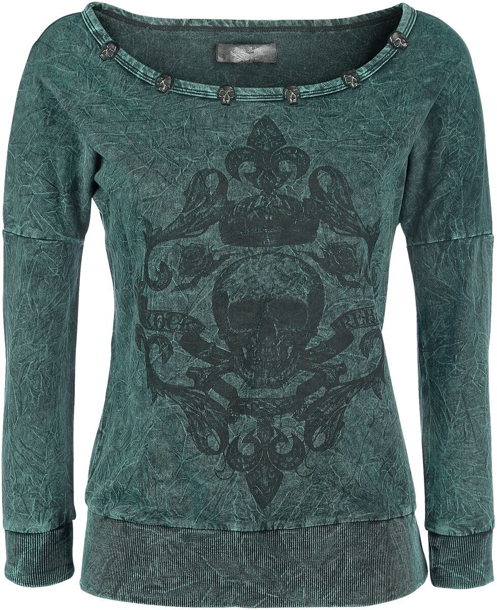 Image of   Rock Rebel by EMP Come On Get It Girlie sweatshirt grøn
