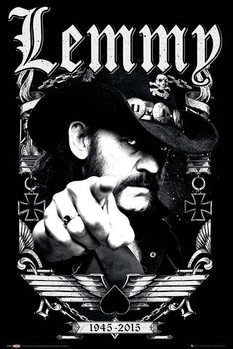 Image of   Motörhead Lemmy - Dates Plakat multifarvet