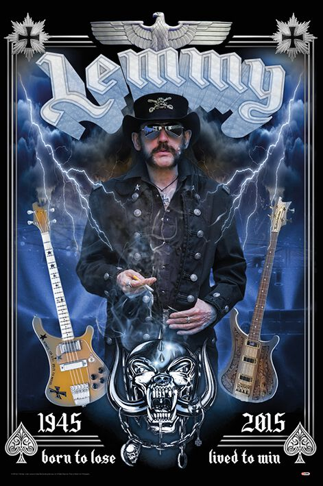 Image of   Motörhead Born to lose - lived to win Plakat multifarvet