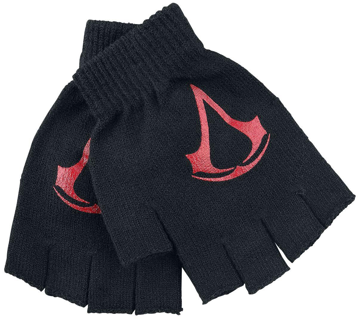 Image of   Assassin's Creed Red Logo Fingerløse handsker sort-rød