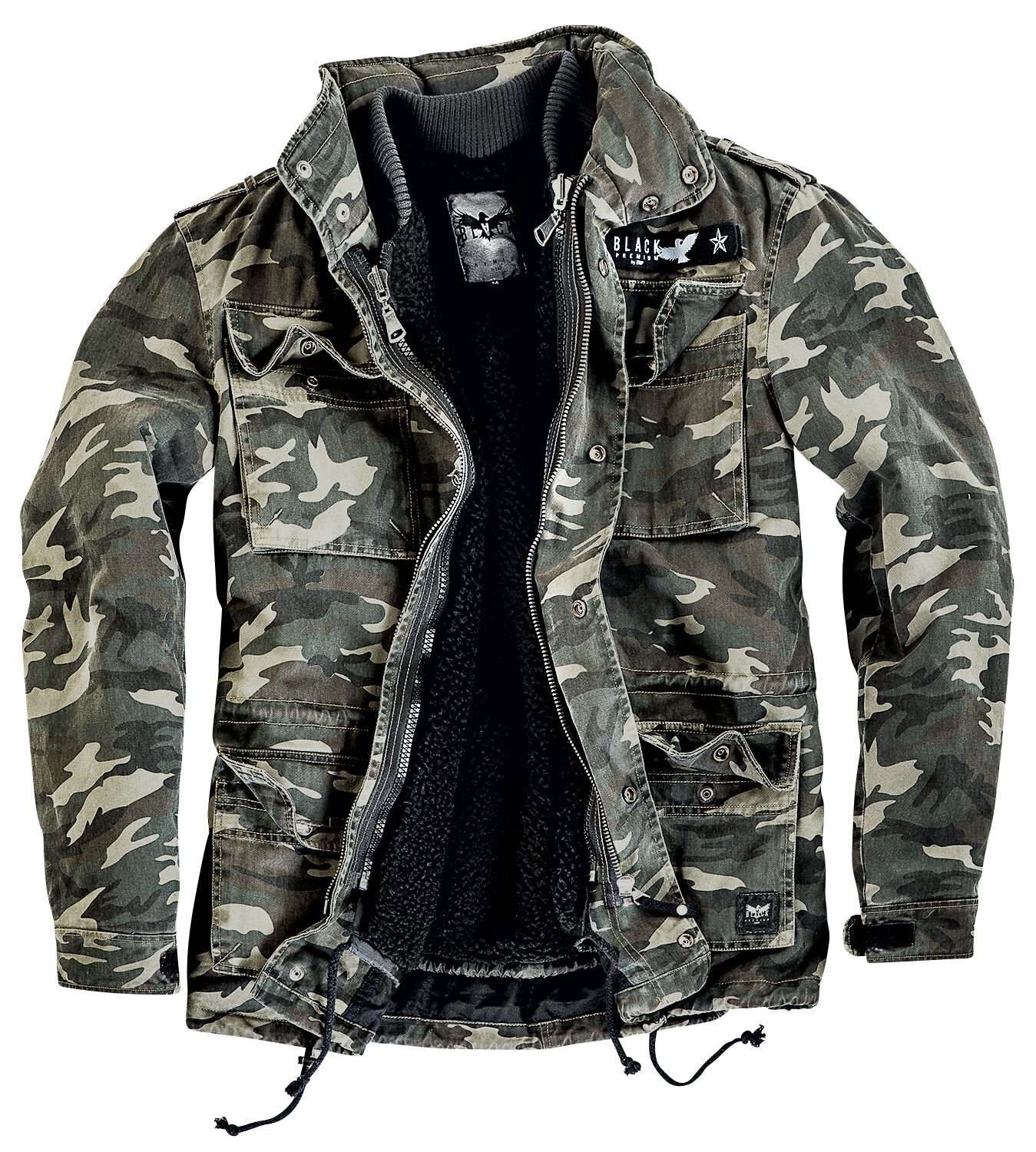 Image of   Black Premium by EMP Army Field Jacket Jakke camouflage