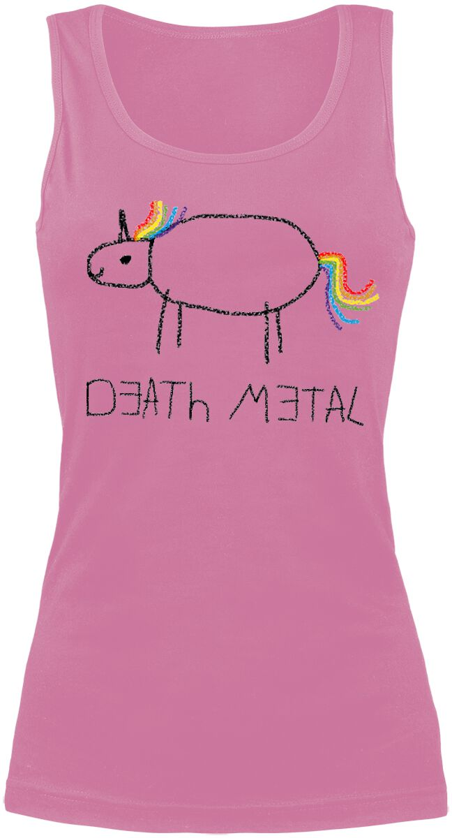 Fun Shirts - Topy - Top damski Death Metal Top damski jasnoróżowy (Light Pink) - 328058
