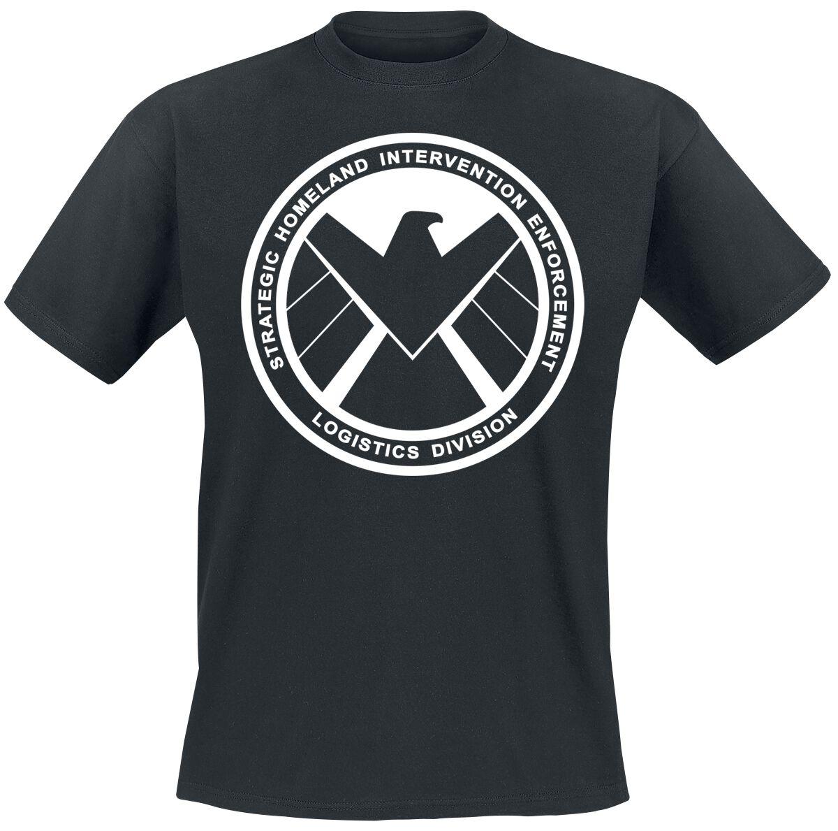 Merch dla Fanów - Koszulki - T-Shirt Agents of S.H.I.E.L.D. S.H.I.E.L.D. Emblem T-Shirt czarny - 328144