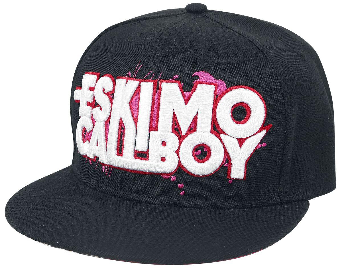 Zespoły - Czapki i Kapelusze - Czapka Snapback Eskimo Callboy Logo Czapka Snapback czarny/biały - 328192