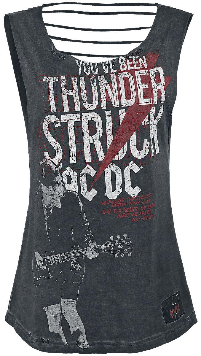 Image of   AC/DC EMP Signature Collection Girlie top mørk grå