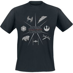 Star Wars Ship Icons T-shirt noir
