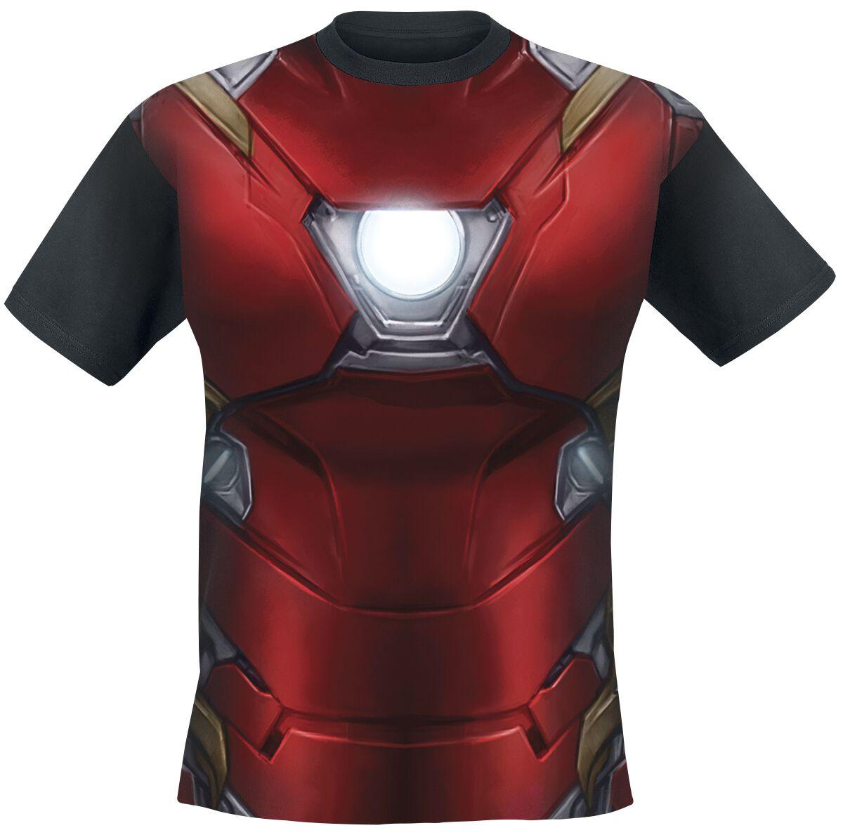 Merch dla Fanów - Koszulki - T-Shirt Iron Man Civil War - Costume T-Shirt wielokolorowy - 328572
