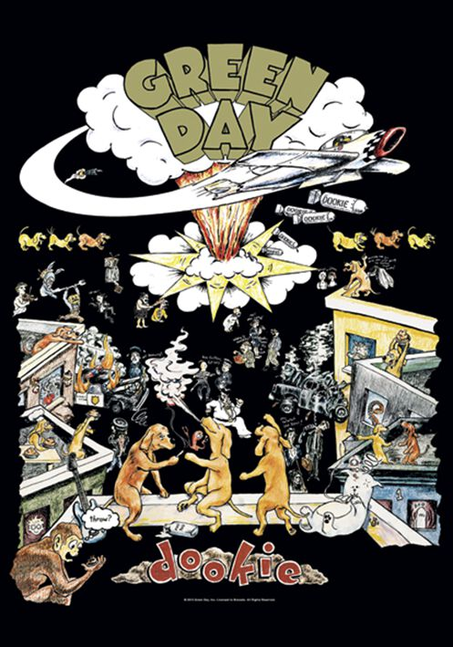 Green Day Dookie Flagge Standard
