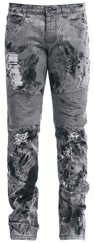 Image of   Rock Rebel by EMP Acid Jared (Slim Fit) Jeans grå-sort