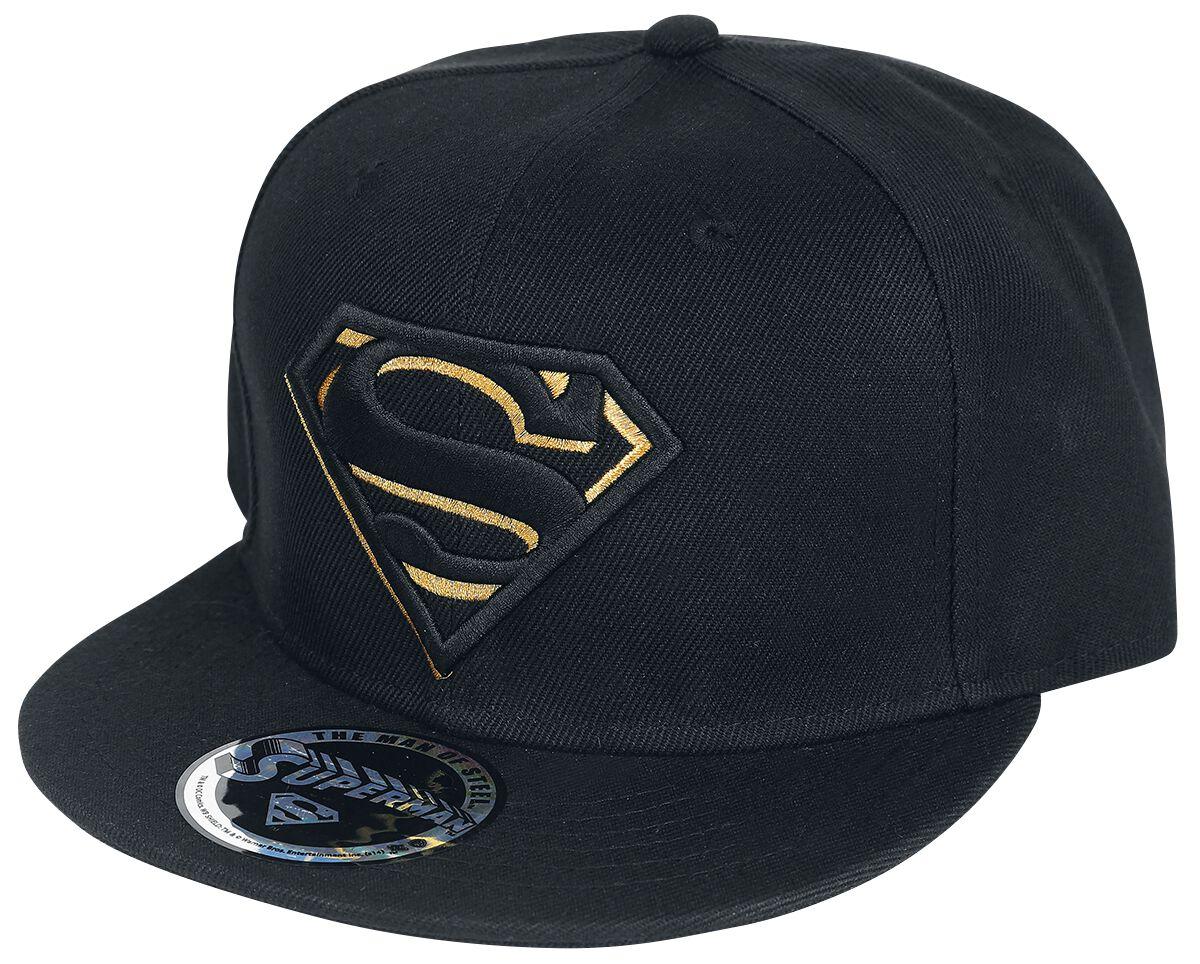 Merch dla Fanów - Czapki i Kapelusze - Czapka Snapback Superman Black/Gold Logo Czapka Snapback czarny - 328741