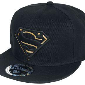 Superman Logo Noir/Or Casquette Snapback noir