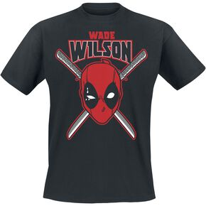 Deadpool Wade Wilson T-shirt noir