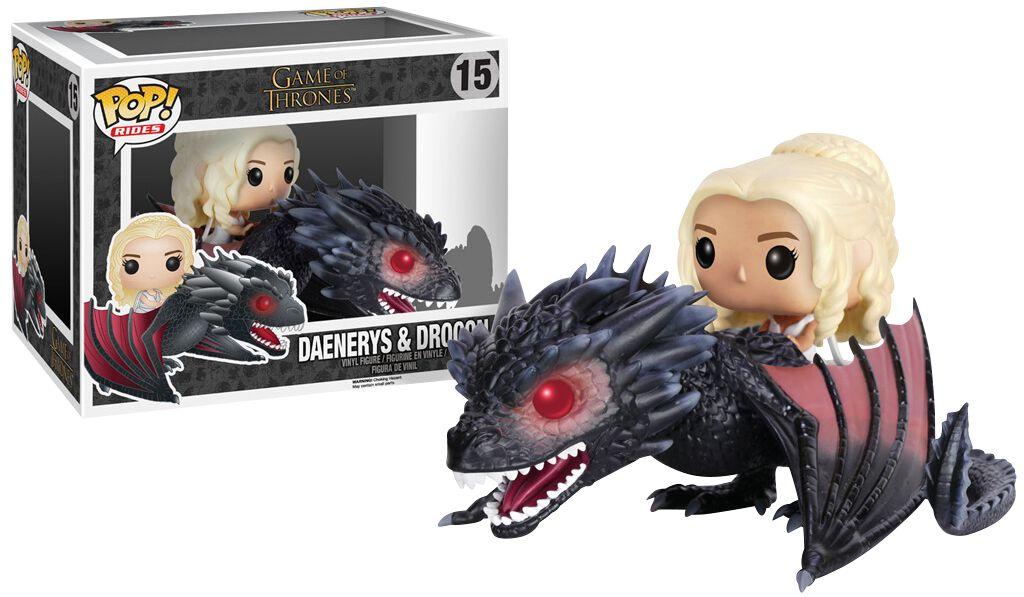 Game Of Thrones Figurine En Vinyle Daenerys Targaryen & Drogon 15 Figurine de collection Standard
