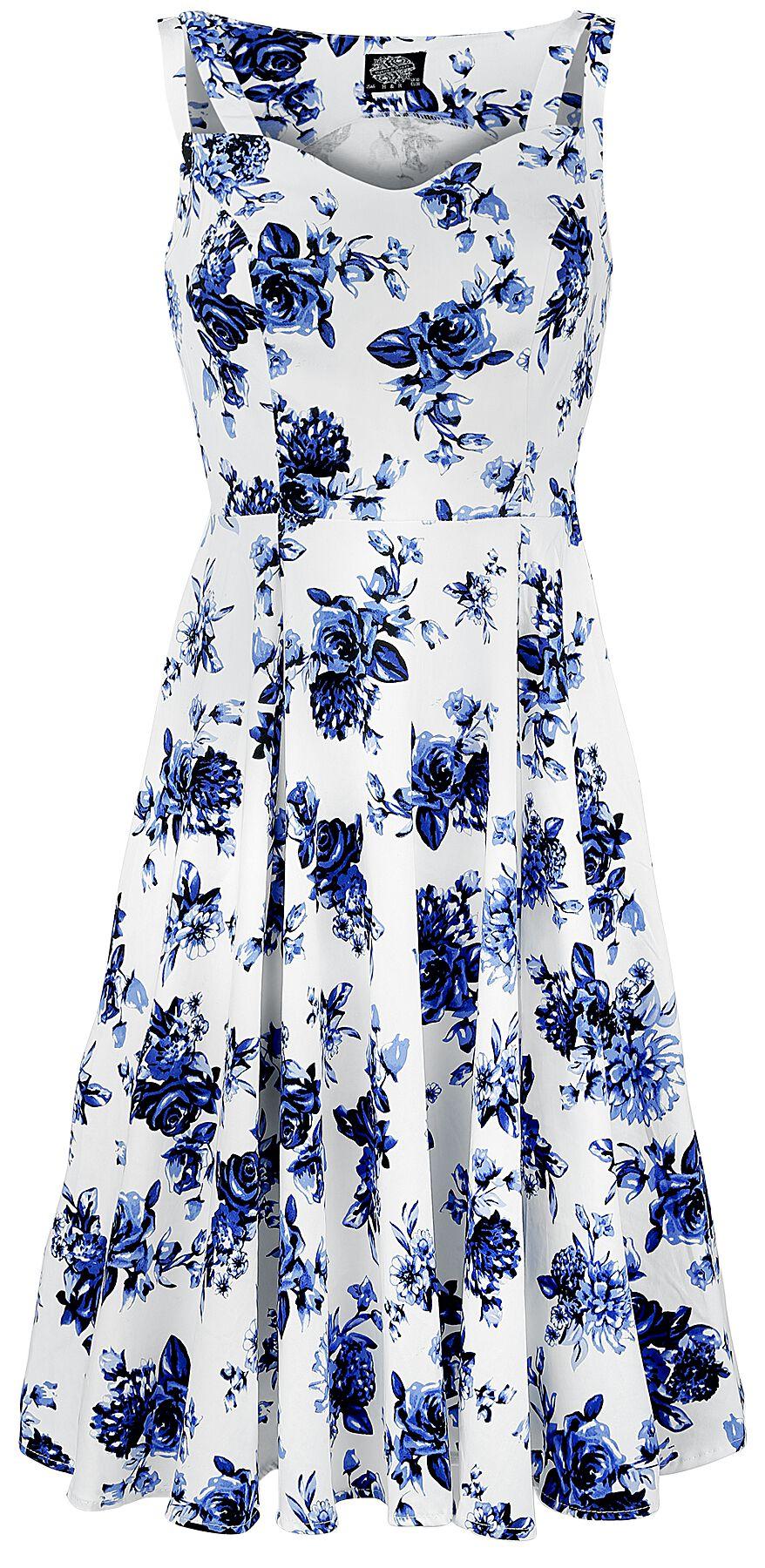 H&R London Blue Rosaceae Swing Dress Sukienka wielokolorowy