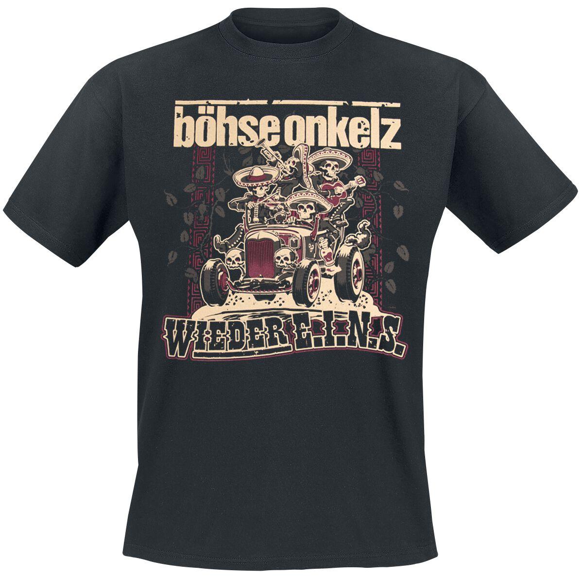 Image of   Böhse Onkelz Wieder E.I.N.S. T-Shirt sort