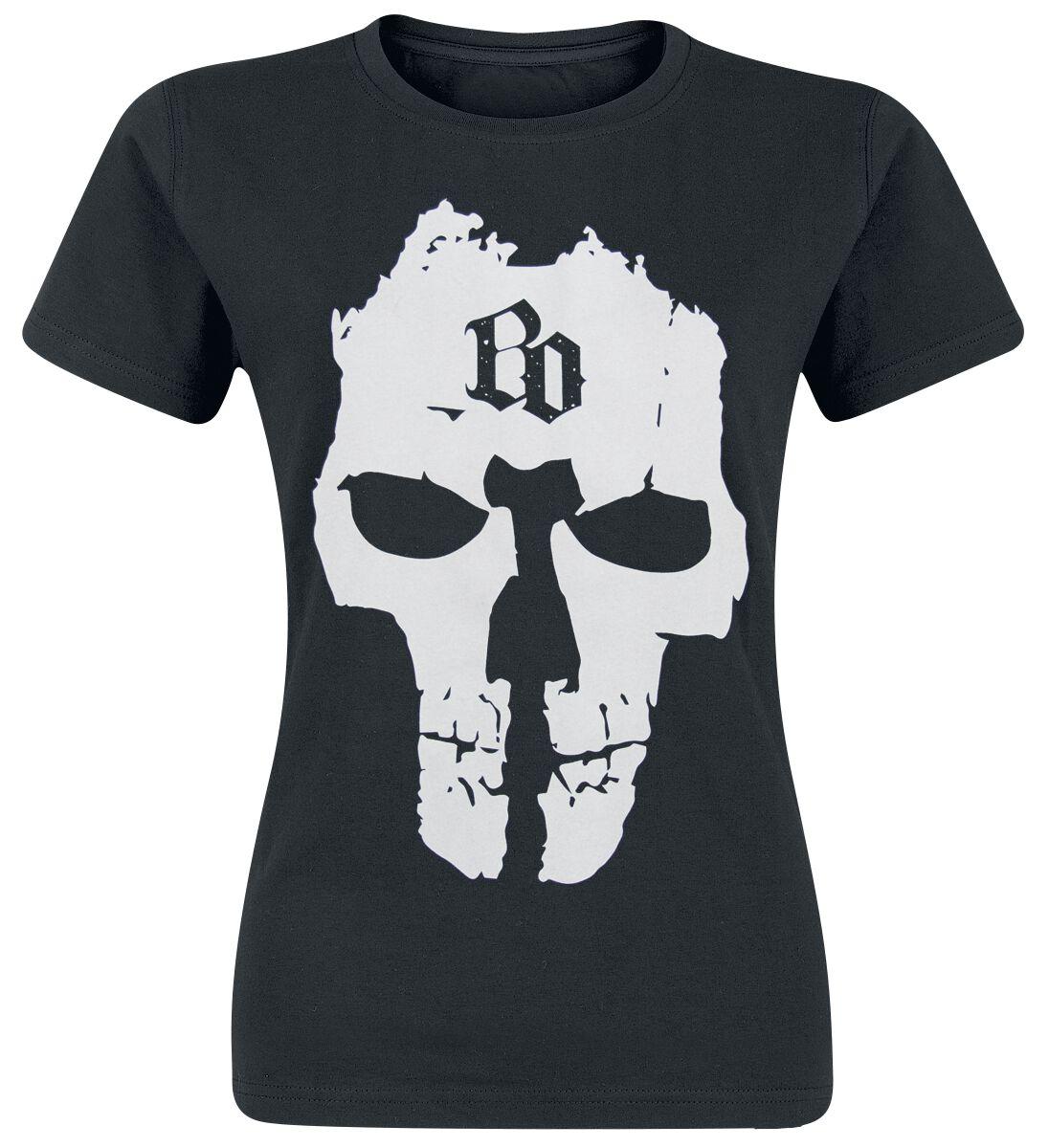 Image of   Böhse Onkelz BO Skull Girlie trøje sort