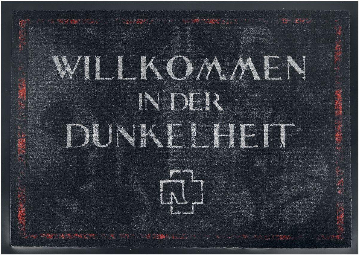 Image of   Rammstein Willkommen In Der Dunkelheit Dørmåtte mørk grå-rød