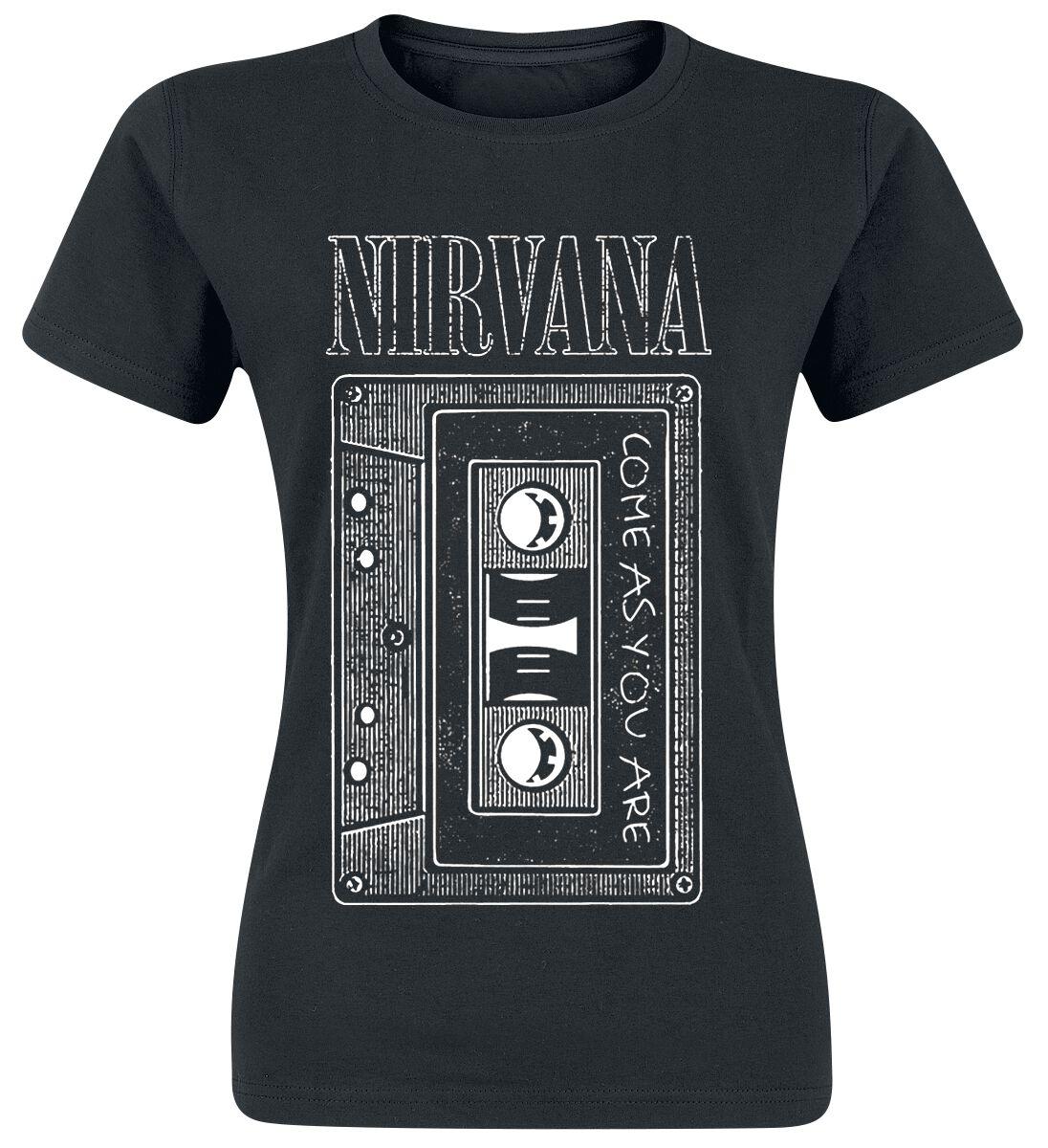 Zespoły - Koszulki - Koszulka damska Nirvana As You Are Tape Koszulka damska czarny - 329844