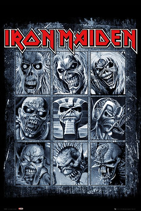 Image of   Iron Maiden Eddies Plakat multifarvet