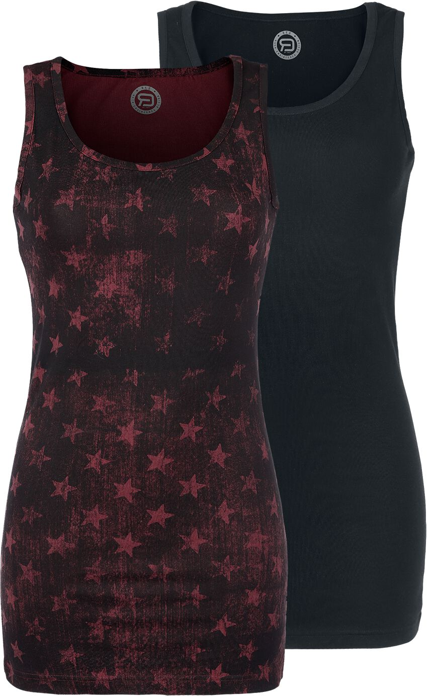 Image of   RED by EMP Dark And Long Girlie top bordeaux-sort