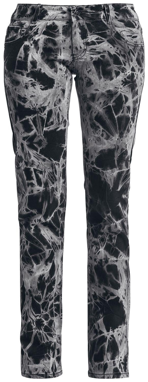 Marki - Spodnie długie - Jeansy damskie Alcatraz Batik Jeans Jeansy damskie szary - 330272