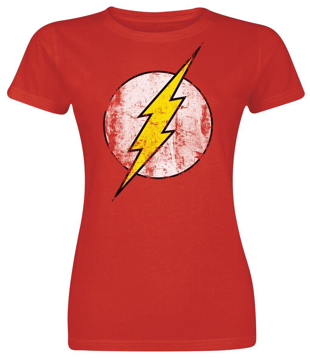 Merch dla Fanów - Koszulki - Koszulka damska The Flash Logo Koszulka damska czerwony - 330315