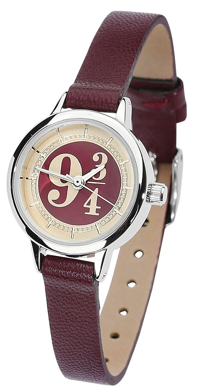 Uhren für Frauen - Harry Potter Gleis 9 3 4 Armbanduhr bordeaux  - Onlineshop EMP