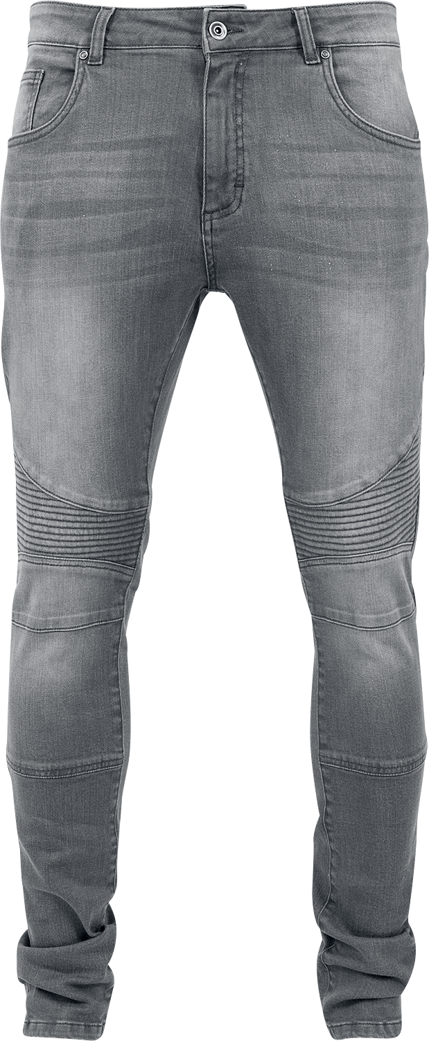 Urban Classics - Slim Fit Biker Jeans - Jeans - grey