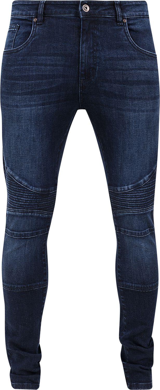 fa5f2182e823 Urban Classics Slim Fit Biker Jeans Jeans mørk blå