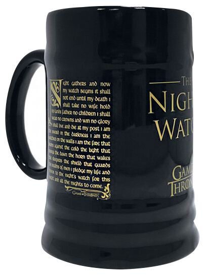 Image of   Game Of Thrones Night's Watch Ølkrus sort