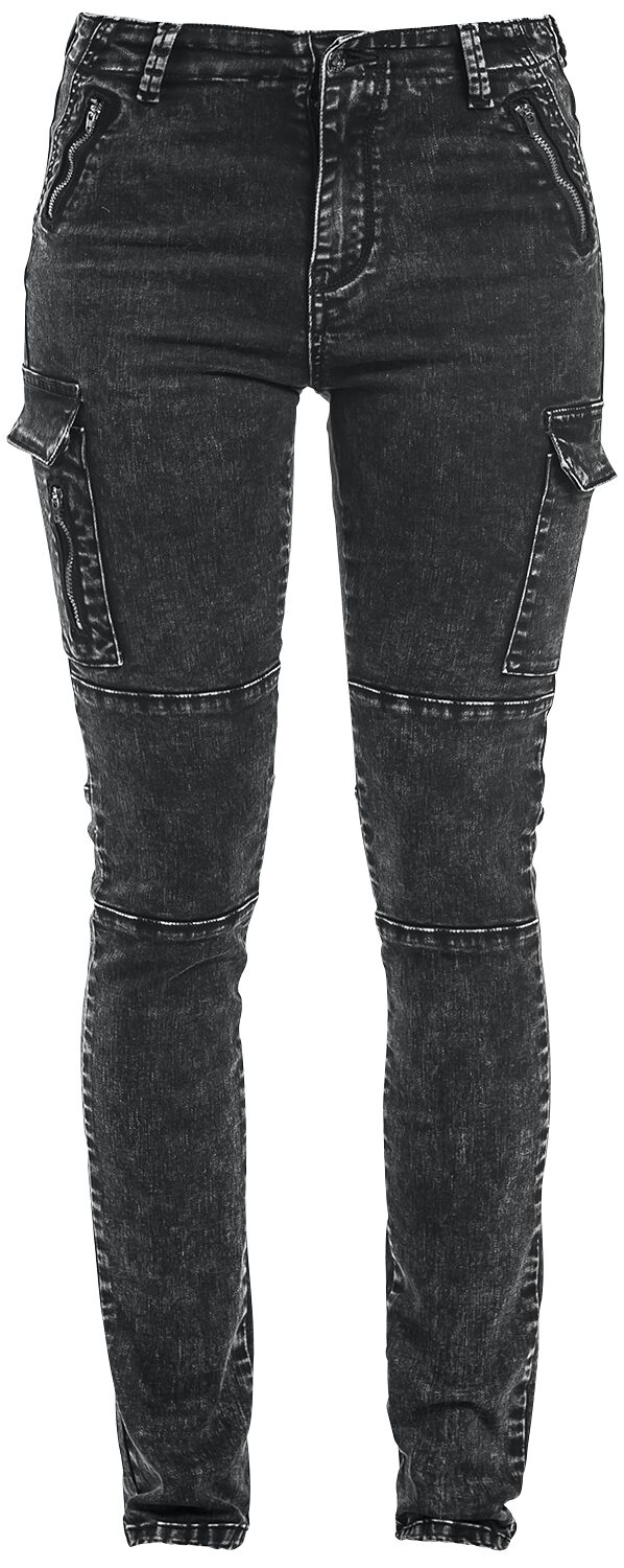Image of   Forplay Cargo Jeans Girlie jeans grå