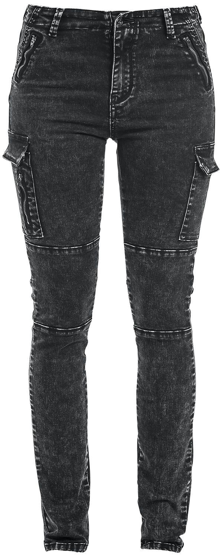 Basics - Spodnie długie - Jeansy damskie Forplay Cargo Jeans Jeansy damskie szary - 330797