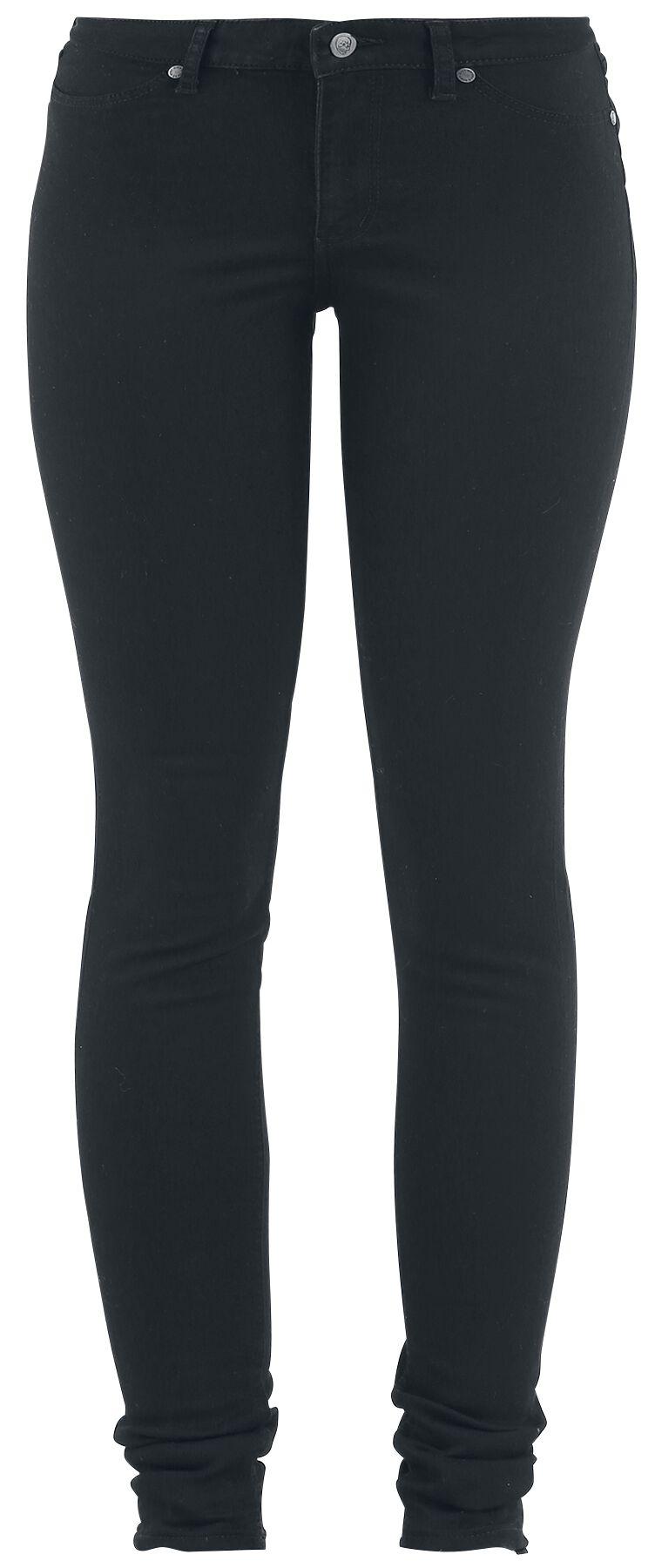 Hosen für Frauen - Cheap Monday Mid Spray Black Girl Jeans schwarz  - Onlineshop EMP