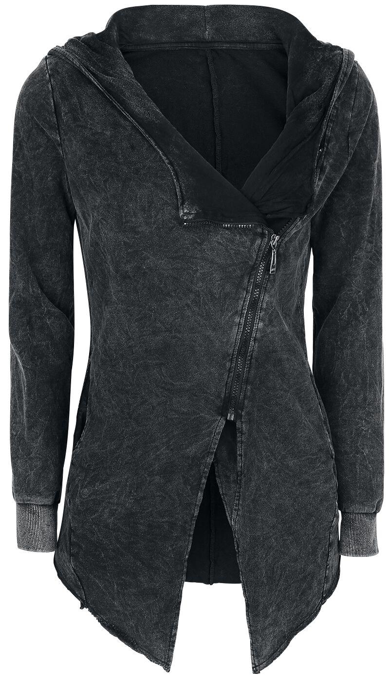 Image of   Forplay Asymmetric Vintage Zipper Girlie hættejakke sort