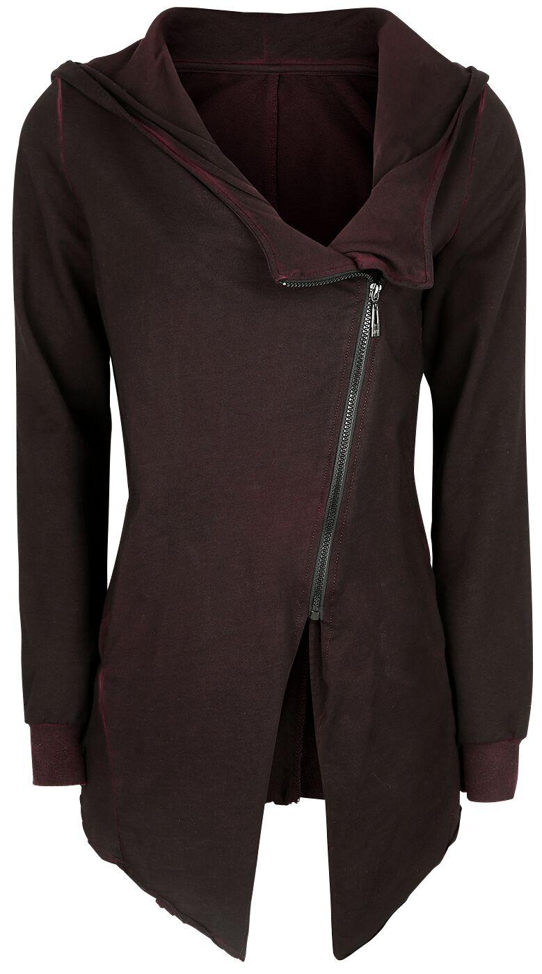Image of   Forplay Asymmetric Vintage Zipper Girlie hættejakke burgundy