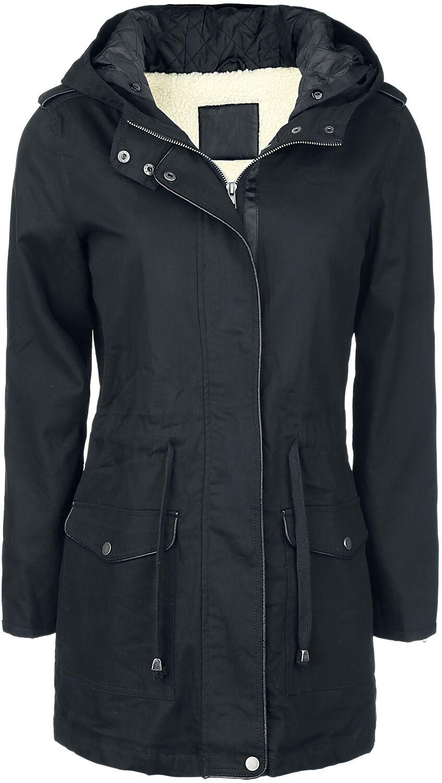 Image of   Forplay Girl Jacket with Faux Fur Lining Girlie vinterjakke sort