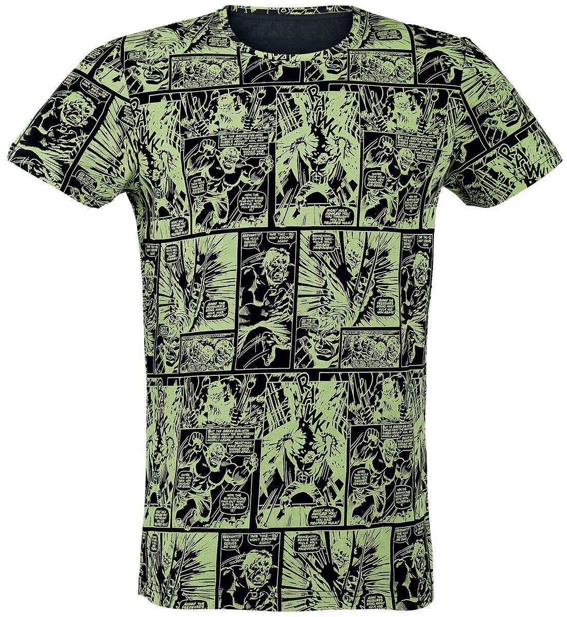 Merch dla Fanów - Koszulki - T-Shirt Hulk Comic Strip T-Shirt allover - 331046