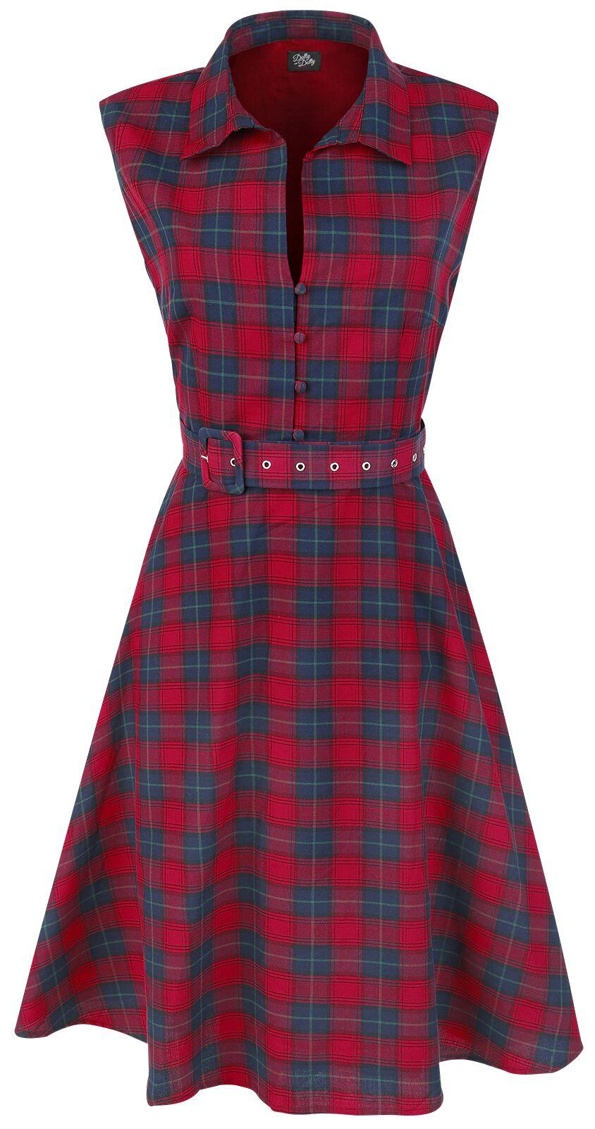 Marki - Sukienki - Sukienka Dolly and Dotty Tartan Dress Sukienka niebieski/czerwony - 331223