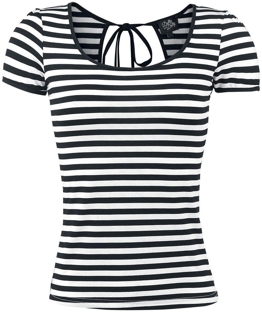 Marki - Koszulki - Koszulka damska Dolly and Dotty Sailor Tee Koszulka damska czarny/biały - 331224