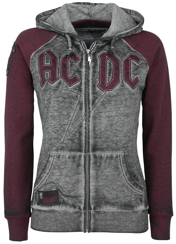 Image of   AC/DC EMP Signature Collection Girlie hættejakke grå-rød
