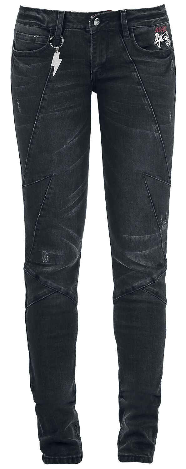 Image of   AC/DC EMP Signature Collection Girlie jeans sort